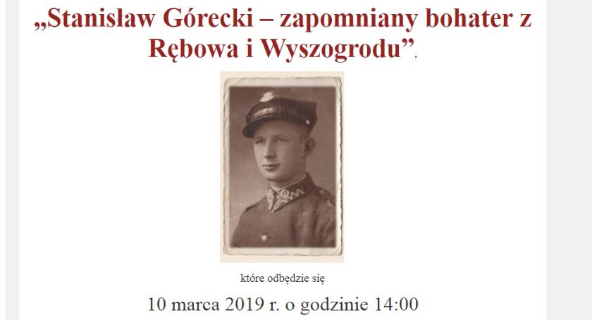 """Historia, """"Stanisław Górecki zapomniany bohater Rębowa Wyszogrodu"""" marca - zdjęcie, fotografia"""