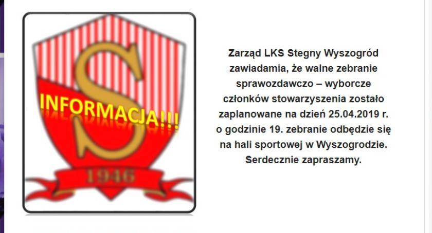 Sport, Zarząd Stegny Wyszogród zawiadamia - zdjęcie, fotografia