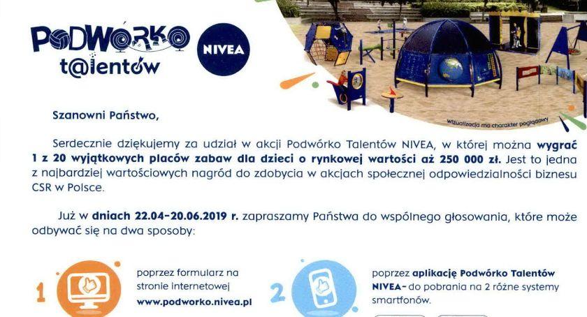 Ciekawostki, Zapraszamy głosowania Samorządowe Przedszkole Oddziałem Integracyjnym Małej konkursie Podwórko Talentów NIVEA - zdjęcie, fotografia