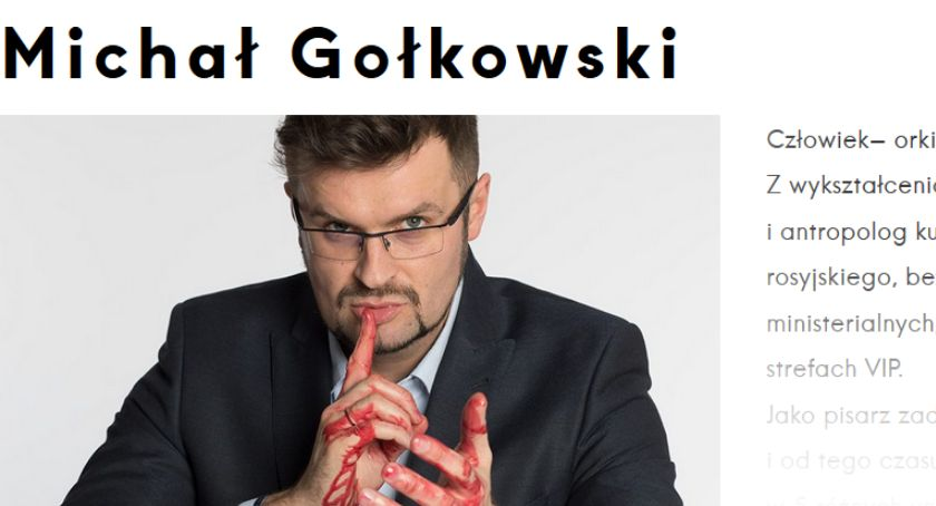 Kultura, Spotkanie Pisarzem Michałem Gołkowskim - zdjęcie, fotografia