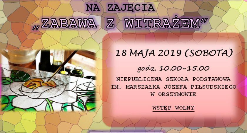 """Oświata, Zaproszenie zajęcia """"Zabawa Witrażem"""" - zdjęcie, fotografia"""