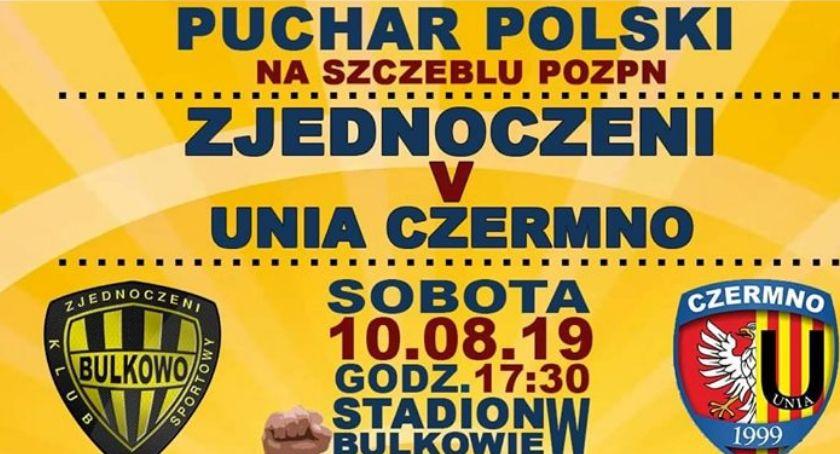 Sport, Puchar Polski Zjednoczeniu Bulkowo Czermno godz17 - zdjęcie, fotografia