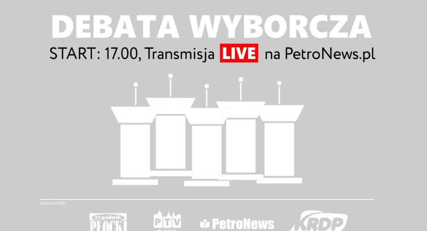 Ludzie, Dziś debata wyborcza Płock - zdjęcie, fotografia