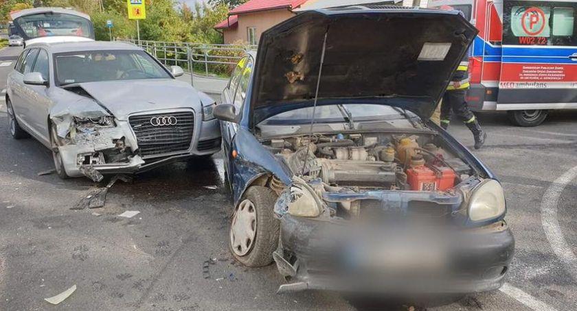 Wypadki, Wypadek drodze Rębowo - zdjęcie, fotografia