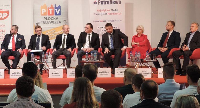 Ludzie, Debata wyborcza Płock - zdjęcie, fotografia