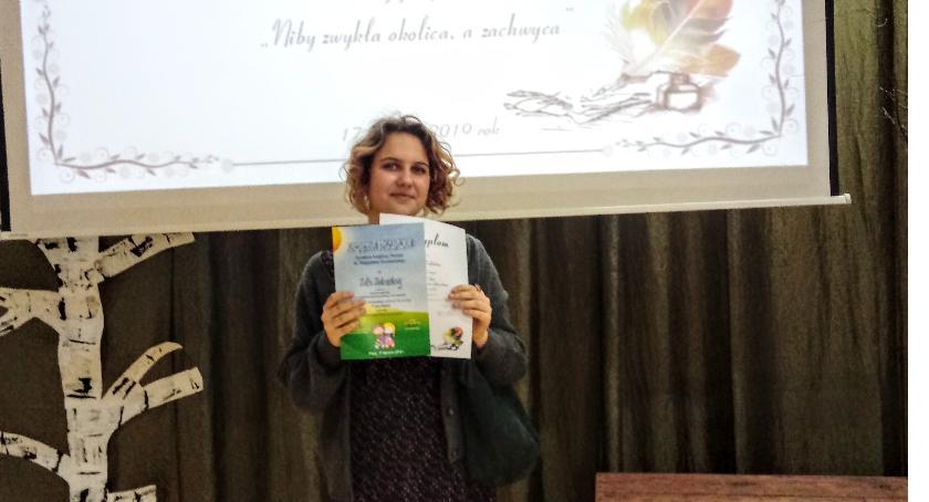 Oświata, Laureatka konkursu literackiego Wyszogród - zdjęcie, fotografia
