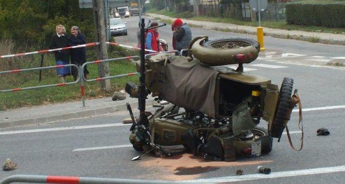 Wypadki, Wypadek motocyklisty skrzyżowaniu Wyszogrdzie - zdjęcie, fotografia