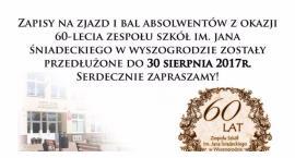 Termin zapisów na zjazd absolwentów Z.S w Wyszogrodzie - przedłużony.