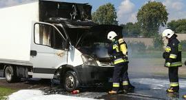 Video relacja z pożaru samochodu w  Wyszogrodzie