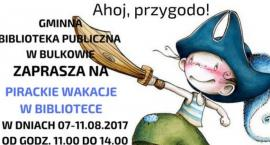 """Gminna Biblioteka Publiczna w Bulkowie zaprasza na""""Pirackie wakacje w bibliotece"""""""