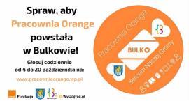 Dziś 20 X ostatni dzień głosowania. Pracownia Orange w Bulkowie - Zagłosuj , Pomóż
