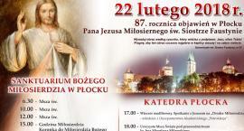 87. rocznica objawienia Pana Jezusa Miłosiernego w Płocku – 22 lutego 2018r