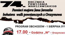 1 sierpnia- 74 rocznica Powstania Warszawskiego... Orszymowo godz. 17,00