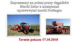 Pokaz pracy ciągników przy drodze Bulkowo Bodzanów-Mąkolin