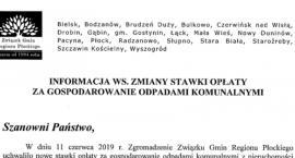 Burmistrz Gminy i Miasta Wyszogród sprzeciw w sprawie opłat za śmieci.