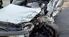 Wypadek w Rębowie 26 XI 2019 godzina 6,00