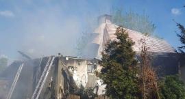 Pożar domu w Białobrzegach.