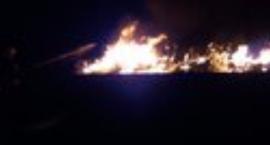 Pożar śmietnika w Kobylnikach.