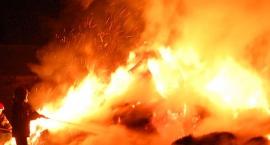 Pożar domu w Lasocinie