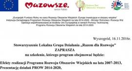 """Gmina Radzanowo zaprasza na szkolenie  """"Razem dla Rozwoju"""""""