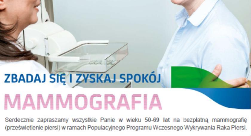 Zdrowie, Bezpłatne badania mammograficzne - zdjęcie, fotografia