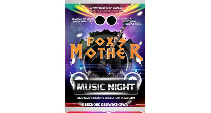 Koncerty, Koncert FOX' MOTHER Music Night - zdjęcie, fotografia
