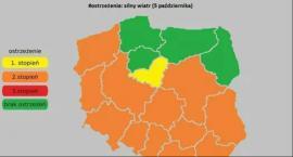 Ostrzeżenie drugiego stopnia dla województwa mazowieckiego