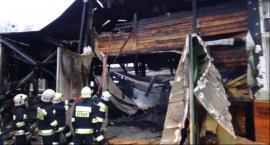 Pożar hali produkcyjnej zakładu drzewnego