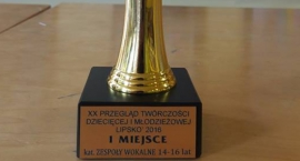 I miejsce w Przeglądzie Twórczości Dziecięcej Lipsko 2016.