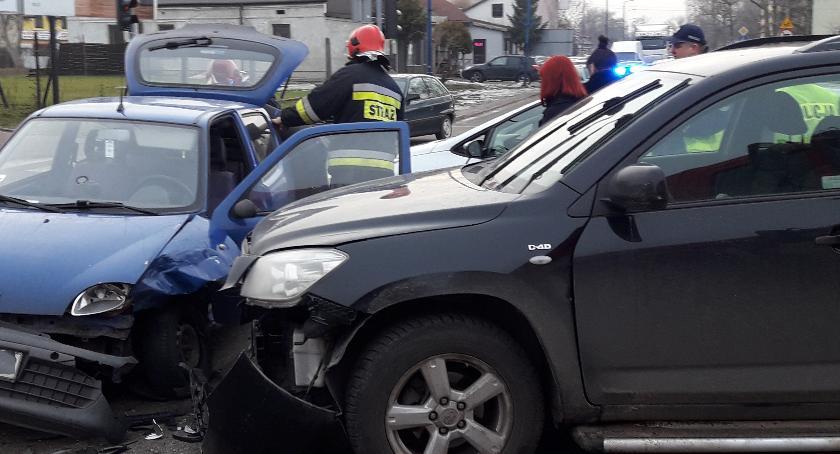 Pożary i wypadki, zderzył Toyotą - zdjęcie, fotografia