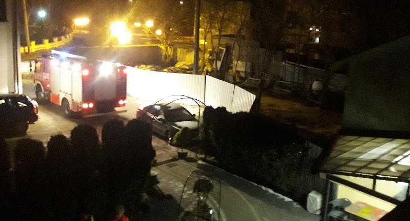 Pożary i wypadki, Pożar centrum Skierniewic - zdjęcie, fotografia