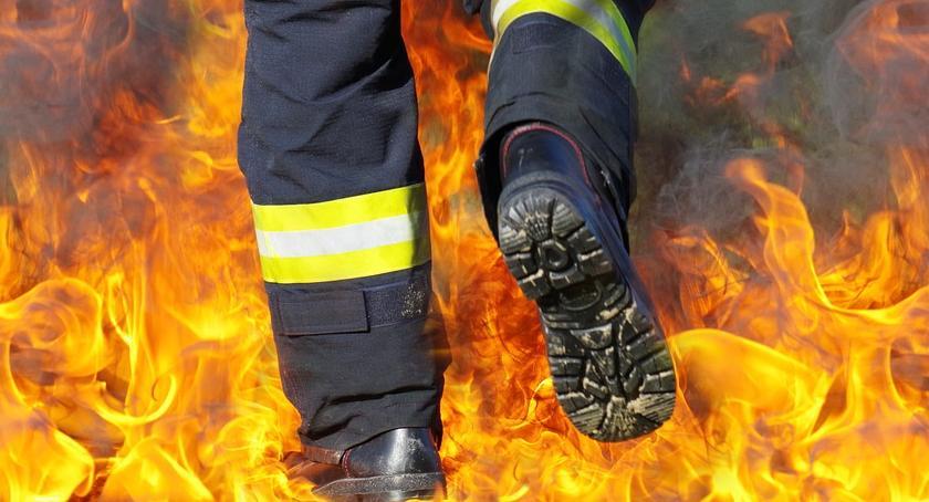 Pożary i wypadki, Ofiara śmiertelna pożaru Rawskiej - zdjęcie, fotografia