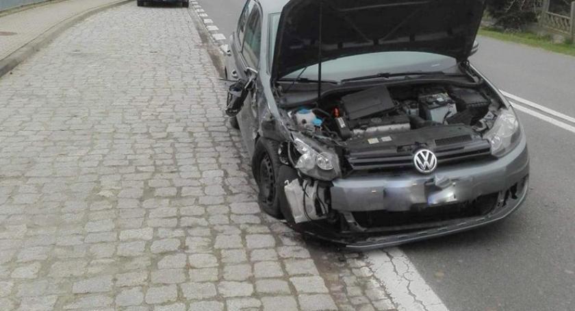 Pożary i wypadki, Poranne zderzenie pojazdów miejscowości Słupia - zdjęcie, fotografia
