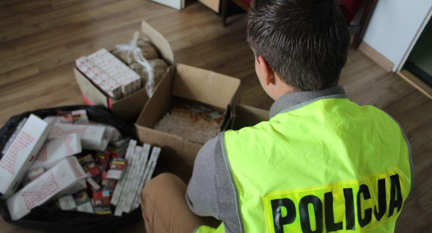 Kronika Kryminalna, Nielegalne wyroby tytoniowe zabezpieczone przez skierniewicką policję - zdjęcie, fotografia