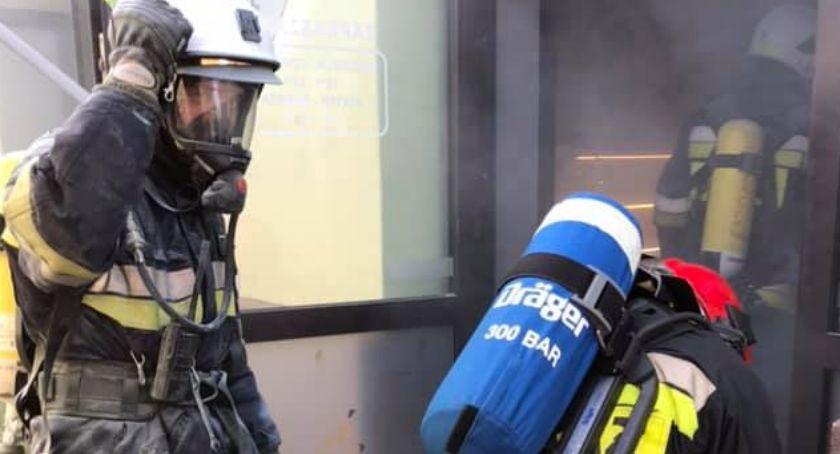 Pożary i wypadki, Pożar restauracji Rynek Skierniewicach - zdjęcie, fotografia