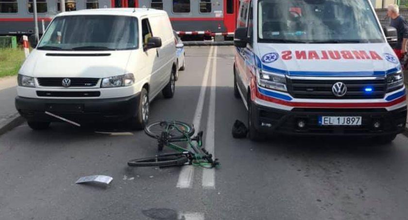 Pożary i wypadki, Potrącenie dziecka rowerze osiedlu Rawka - zdjęcie, fotografia