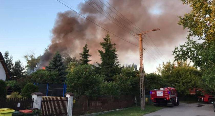 Pożary i wypadki, Pożar drewnianego budynku Marii Skłodowskiej Curie - zdjęcie, fotografia