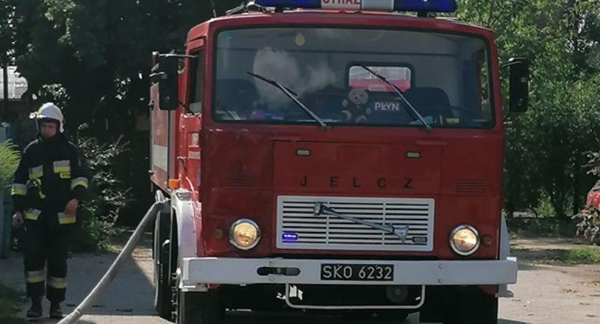 Pożary i wypadki, Pożar butli acetylenem Feliksów Skierniewicach - zdjęcie, fotografia