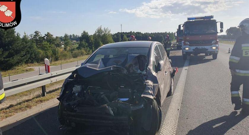 Pożary i wypadki, Kolizja Autostrady - zdjęcie, fotografia
