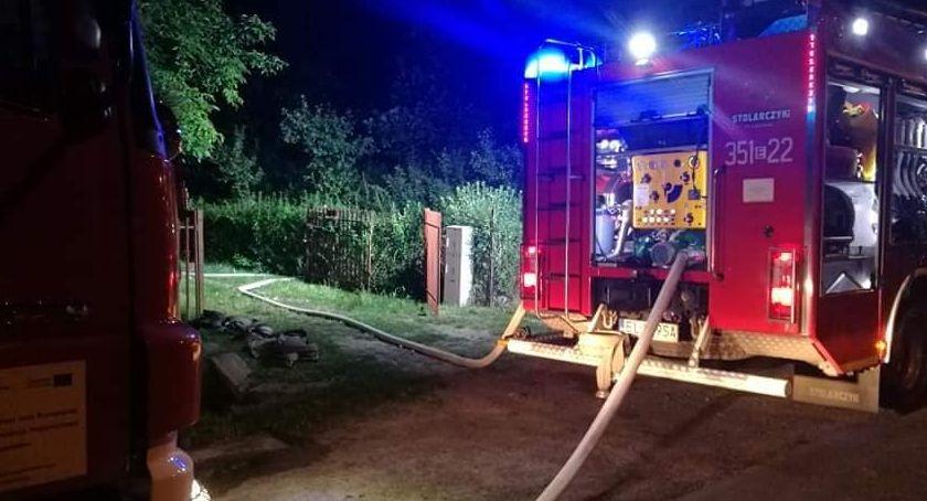 Pożary i wypadki, Pożar budynku Tadeusza Kościuszki Skierniewicach - zdjęcie, fotografia