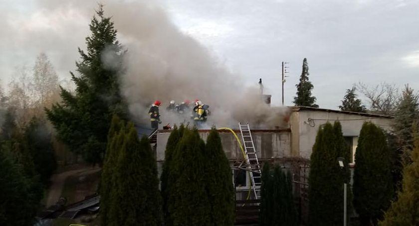Pożary i wypadki, Pożar budynku mieszkalnego Huminie - zdjęcie, fotografia