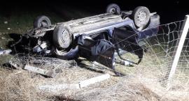 Powiat skierniewicki: Opel ściął słup i dachował