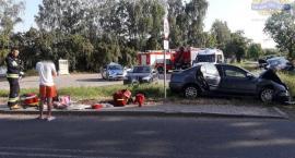 Wypadek na skrzyżowaniu w Dąbrowicach