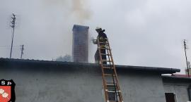 Pożar sadzy w kominie w miejscowości Bolimów