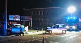 Wypadek na skrzyżowaniu ulic Sobieskiego i Sienkiewicza