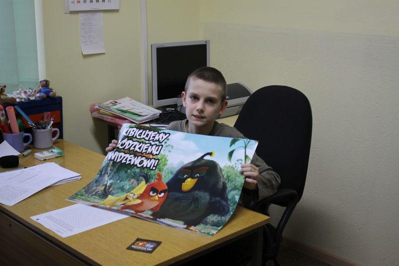 Edukacja, Widzewskie upominki uczniów - zdjęcie, fotografia