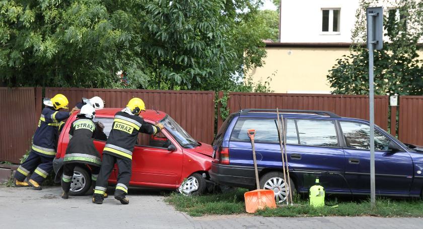 Wypadki i kolizje, Kolizje drogowe Łowiczu - zdjęcie, fotografia