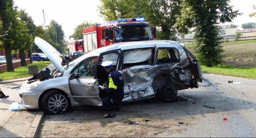 Wypadki i kolizje, Wypadek Seminaryjnej Ulica nieprzejezdna - zdjęcie, fotografia