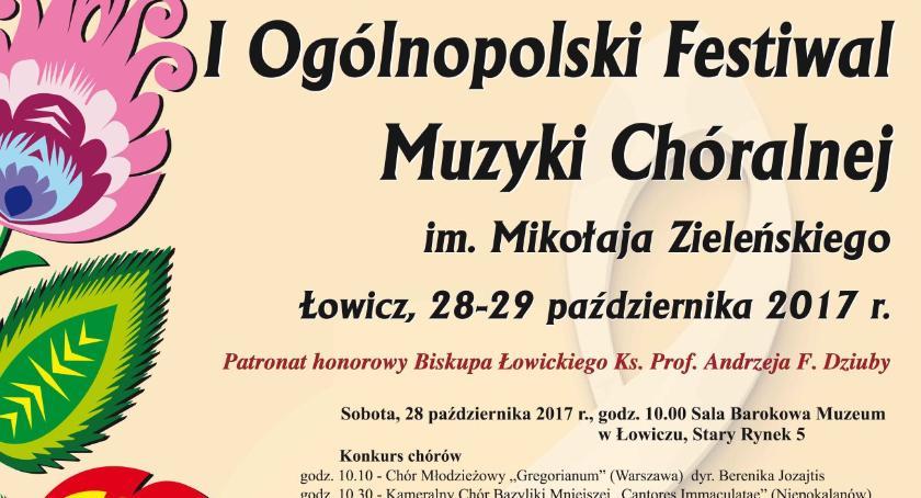 Konkursy, Ogólnopolski Festiwal Muzyki Chóralnej Mikołaja Zieleńskiego Łowiczu (program) - zdjęcie, fotografia
