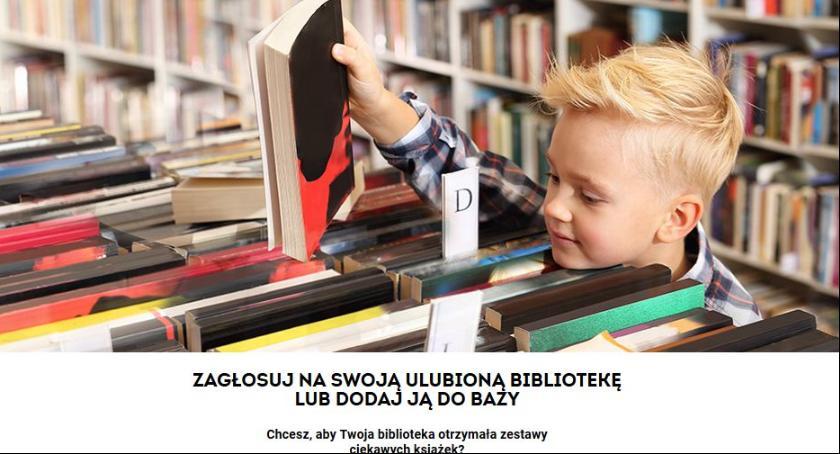 Konkursy, Biblioteka Chąśnie prosi głosy internetowym konkursie - zdjęcie, fotografia